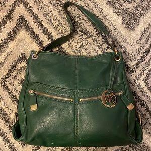 Michael Kors Forest Green Shoulder Bag